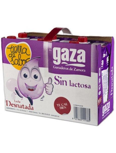 Leche Desnatada Sin Lactosa 1L (x6)