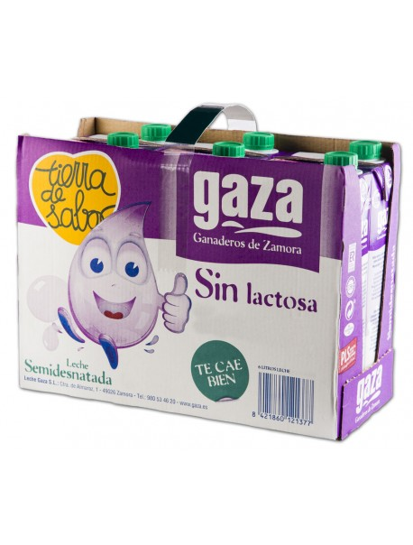Leche Semidesnatada Sin Lactosa 1L (x6)
