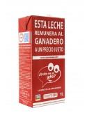 Leche Desnatada La marca de los consumidores 1L (x6)